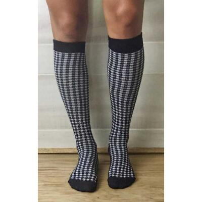 JoJo Sox Bambootz Houndstooth Tall Boot Socks