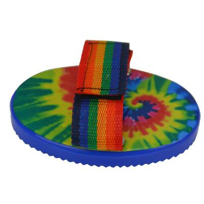 Small Plastic Curry Comb Tie Dye Print
