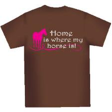 Home is Where My Horse Is Ladies Tee