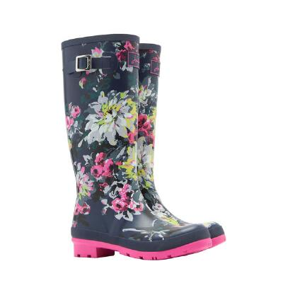 Joules French Navy Floral Ladies Welly