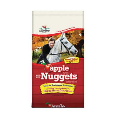 Manna Pro Apple Bite-Size Nuggets Treats 4 Lb