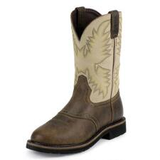 Stampede Waxy Brown Western Mens Work Boot - TB