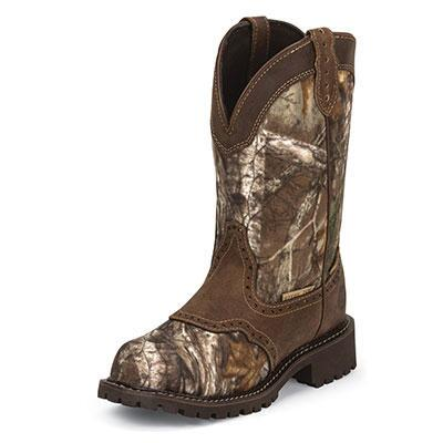 Justin Gypsy Camo Waterproof Steel Toe Ladies Work Boot