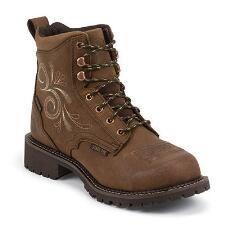Justin Gypsy Lace Waterproof Steel Toe Ladies Work Boots - TB