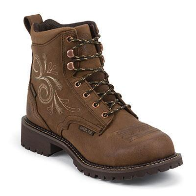 Justin Gypsy Lace Waterproof Steel Toe Ladies Work Boots