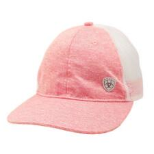 Ariat Messy Bun Shield Logo Pink Baseball Cap - TB