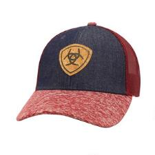 Ariat Denim Cork Shield Snap Back Ladies Baseball Cap - TB