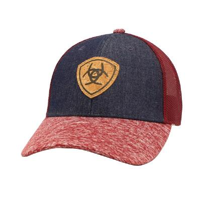 Ariat Denim Cork Shield Snap Back Ladies Baseball Cap