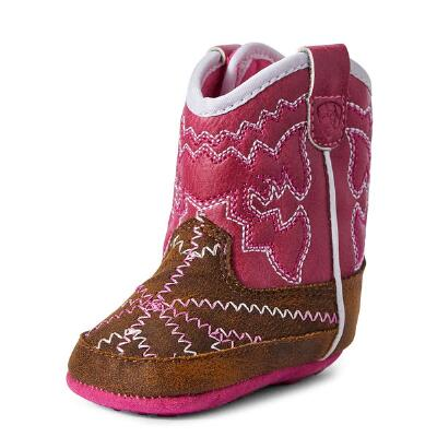 Ariat Lil Stompers Twisted Tycoon Infant Boots - Brown/Pink