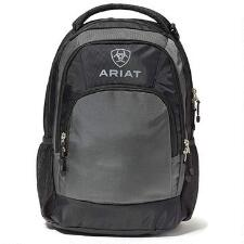 Ariat Black and Gray Logo Backpack - TB
