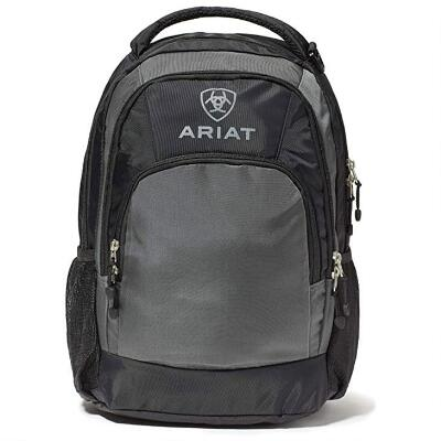 Ariat Black and Gray Logo Backpack
