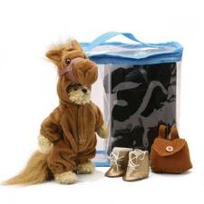 Plush Dress-Up Bear in Horse Costume 8 in - TB