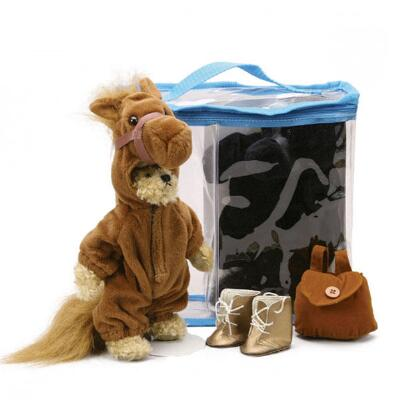 Plush Dress-Up Bear in Horse Costume 8 in