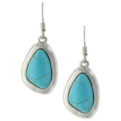 Montana Attitude Boho Turquoise Pebble Earrings