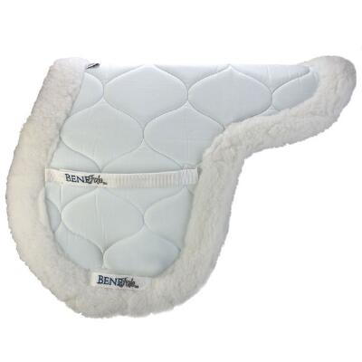BeneFab Ceramic Fitted Saddle Pad White