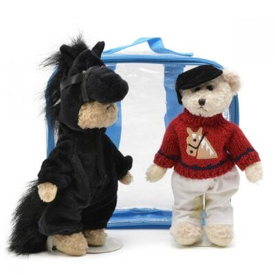 Plush Bear Friends Dress-Up Horse and Rider
