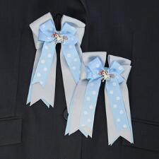 Belle & Bow Annabelle Show Bows - Blue and Pink - TB