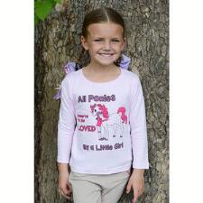 Belle & Bow All Ponies Long Sleeve Girls Tee - TB