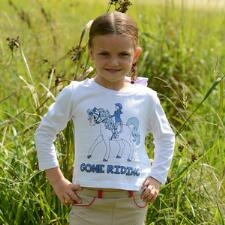 Belle & Bow Gone Riding Long Sleeve Girls Tee - TB