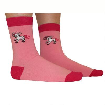 Belle & Bow Pink Pony Youth Socks