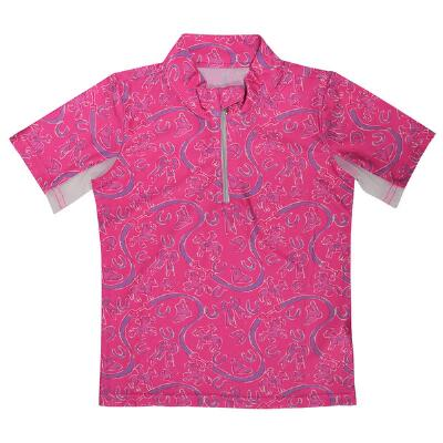 Belle & Bow Short Sleeve Girls Ponies and Bows Sun Shirt