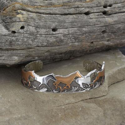 Montana Silversmiths Horse of a Different Color Vintage Bracelet