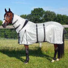 Fly Sheet Mesh with Gusset Silver with Neck Cover