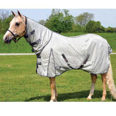 Fly Sheet Mesh Silver with Attached Neck Cover and Surcingle Straps