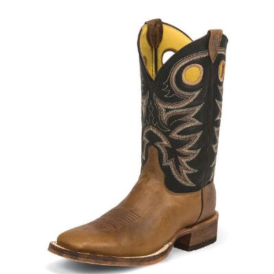 Bent Rail Tobacco Cowhide Mens Western Boot