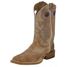 Justin Bent Rail Caddo Beige Mens Western Boot - TB