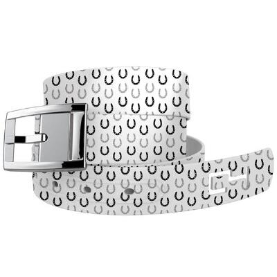 C4 White Horseshoes Belt with Buckle