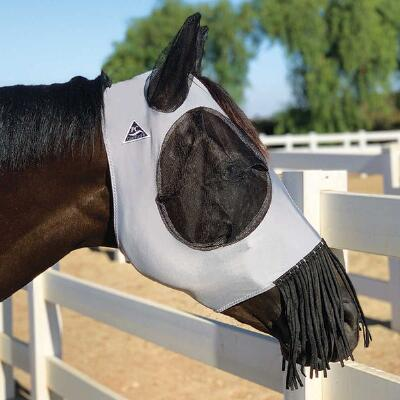 Professionals Choice Comfort Fit Deluxe Fly Mask with Fringe