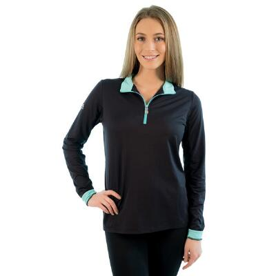 Kastel Ladies Signature Quarter Zip Black Sun Shirt