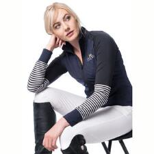 Kastel Ladies Fitted Full Zip Navy Jacket - TB