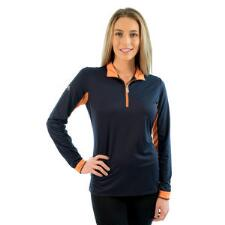 Kastel Charlotte Signature Long Sleeve Ladies Shirt Navy - TB
