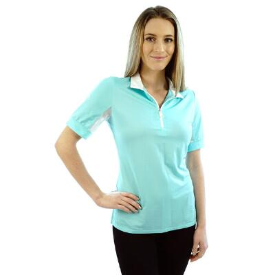 Kastel Charlotte Turqoise Short Sleeve Ladies Shirt