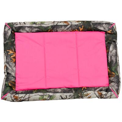 Camo Print Nylon Dog Crate Bed