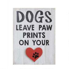 Dogs Leave Pawprints on Your Heart Wall Art