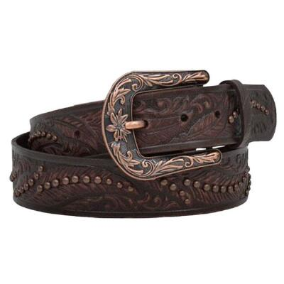 Angel Ranch Tooled Feather Ladies Belt