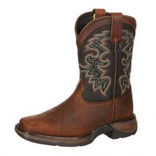Durango Lil Rebel Square Toe Youth Boys Western Boot - TB