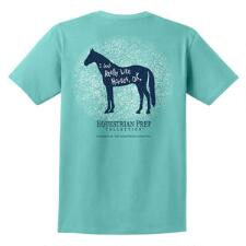 Equestrian Prep Really Like Horses Short Sleeve Adult Tee - TB