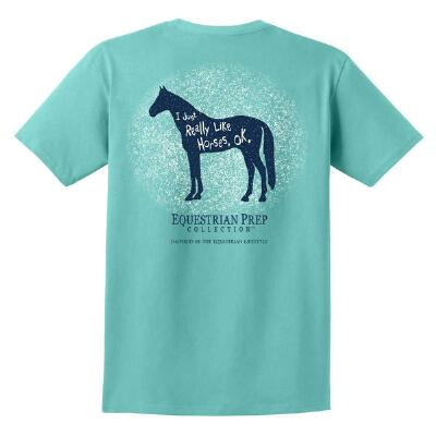 Equestrian Prep Really Like Horses Short Sleeve Adult Tee
