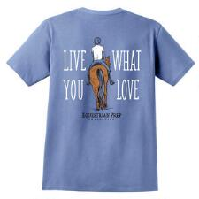 Equestrian Prep Live What You Love Short Sleeve Adult Tee - TB