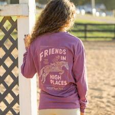 Equestrian Prep High Places Long Sleeve Ladies Tee - TB