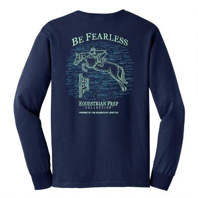 Equestrian Prep Be Fearless Long Sleeve Ladies Tee