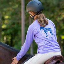 Equestrian Prep I Just Like Horses Long Sleeve Ladies Tee - TB