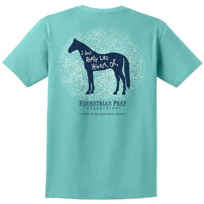 Equestrian Prep Just Really Like Horses Youth Tee