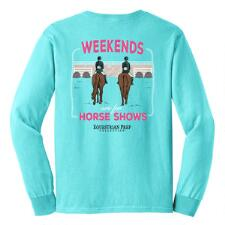 Equestrian Prep Weekends  Long Sleeve Girls Tee - TB