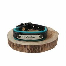 Equestrian Padded Leather Bracelet With Nameplate - TB