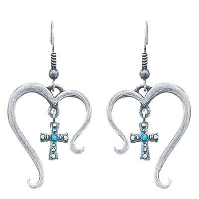 Montana Silversmiths Hearts Open to Faith Earrings